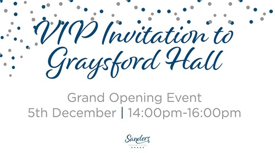 VIP Invitation to Graysford Hall on 5 December 2019