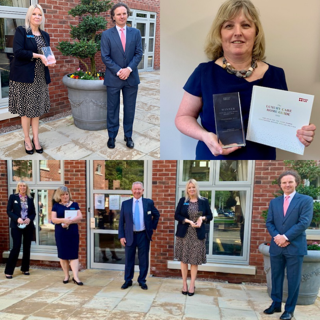 Graysford Hall receive prestigious Knight Frank 'Luxury Care Home' award at ceremony